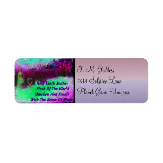 Earth Mother Return Address Label
