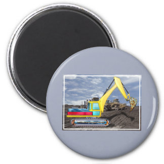Earth Mover Moving Earth 2 Inch Round Magnet
