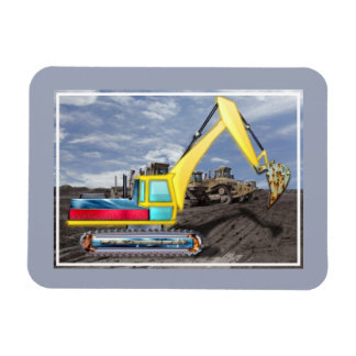 Earth Mover Moving Earth Rectangular Photo Magnet