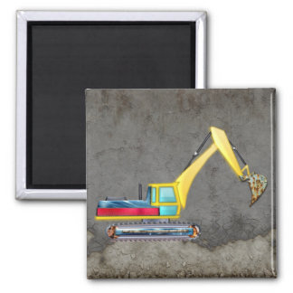 Earth Mover Square Magnet