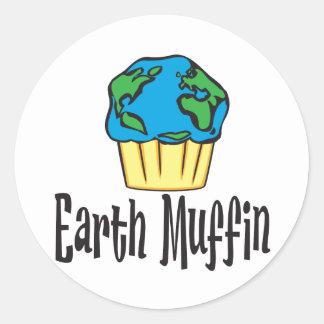 Earth Muffin Classic Round Sticker