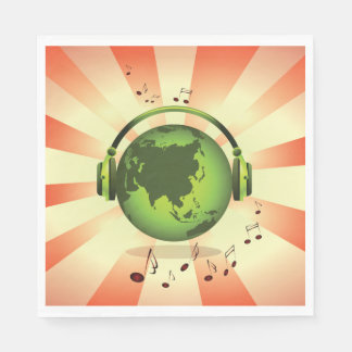 Earth Music Paper Napkins