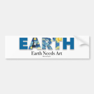 Earth Needs Art Bumper Sticker