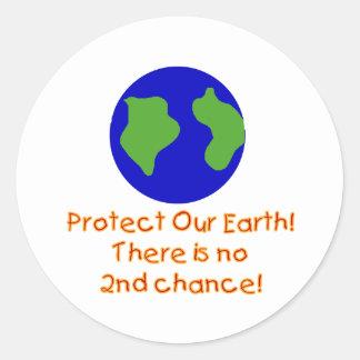 Earth No 2nd Chances Round Sticker