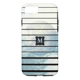 Earth ocean monogrammed design iPhone 8/7 case