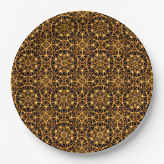 Earth Octagons Pattern 9 Inch Paper Plate