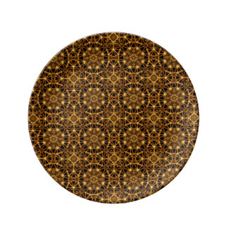 Earth Octagons Pattern Porcelain Plate