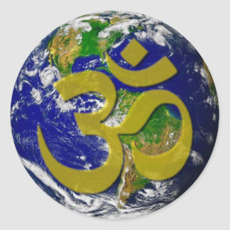 Earth - Om Sweet Home Classic Round Sticker
