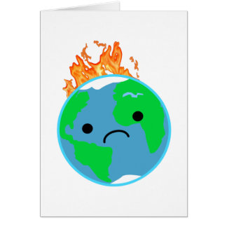 Earth On Fire Card