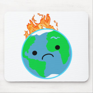 Earth On Fire Mouse Pad