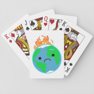Earth On Fire Playing Cards