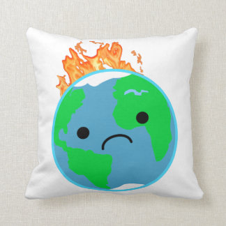 Earth On Fire Throw Pillow