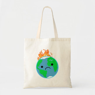 Earth On Fire Tote Bag