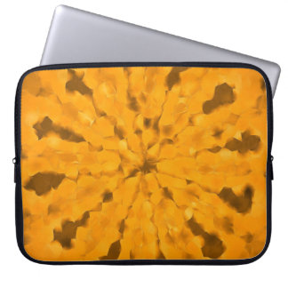 Earth Pattern Yellow Gold Laptop Sleeve