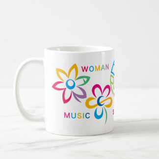 EARTH&Peace&WOMAN&MUSIC&SMILE Coffee Mug