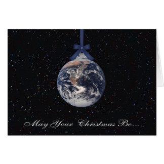 Earth Planets Christmas Greetings Card