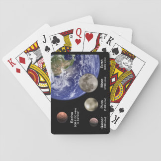 Earth - Pluto - Quoar -Sedna Playing Cards