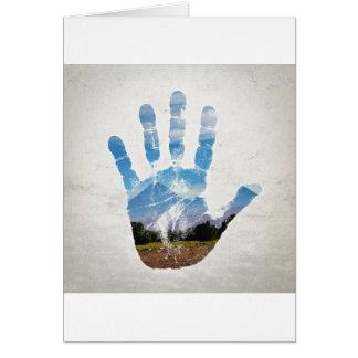 Earth Print Card