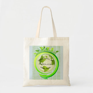 Earth Recycle Reduce Reuse Tote Bag