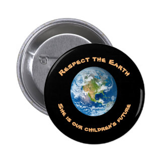 Earth Respect Planet Childrens Future Button