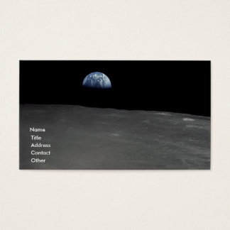 Earth Rise Business Card