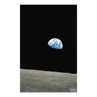 Earth Rises From Moon Stationery