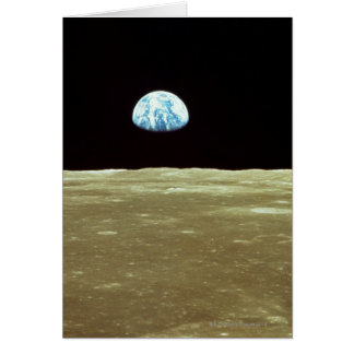 Earth rising over Moon Card
