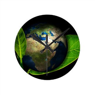 Earth Round Clock