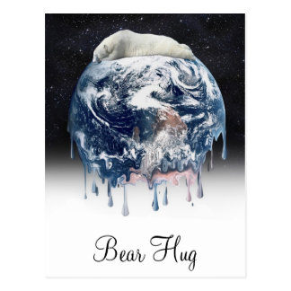 Earth s Bear Hug w Half Universe Background Post Card