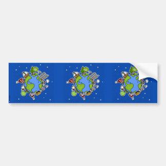 earth scrapbook sticker car bumper sticker