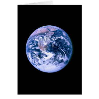 Earth Seen From Space Card
