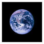 Earth Seen From Space Print