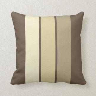 Earth Shades 3 Stripe Throw Pillow