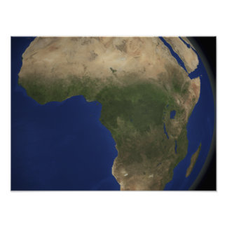 Earth showing landcover over Africa Poster