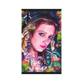 Earth Spirit Girl, Wall Art, Pool Decor, Sexy Girl Canvas Print