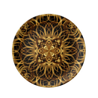 Earth Star Mandala Porcelain Plate