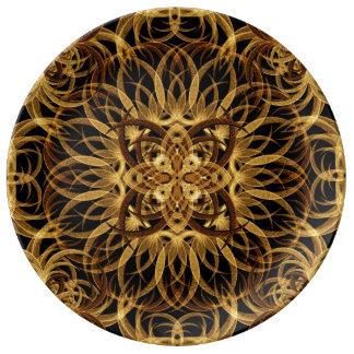 Earth Star Mandala Porcelain Plates