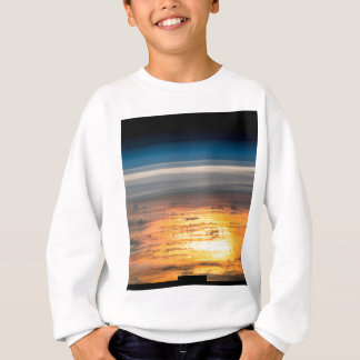 Earth sunset from the International Space Station Sweatshirt