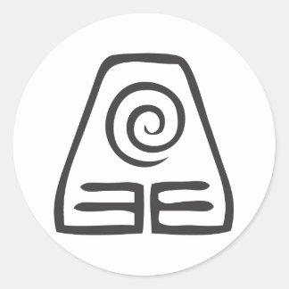Earth Symbol Classic Round Sticker