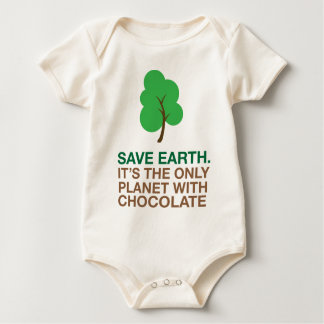 Earth, The Only Planet With Chocolate Baby Bodysuit