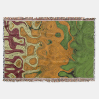Earth Tone Abstract 2 Throw Blanket