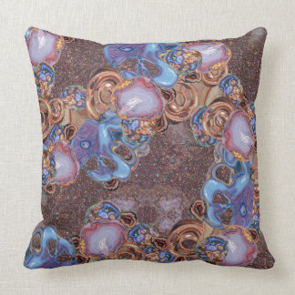 Earth Tone Beauty Throw Pillow