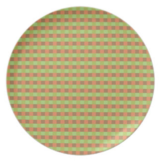 Earth Tone Colored Squares Plate