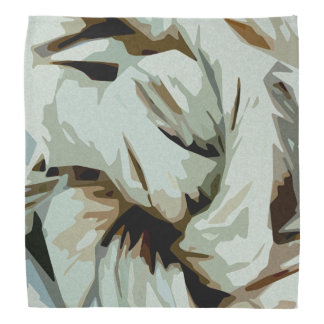 Earth Tone Earthy Abstract Art Bandana