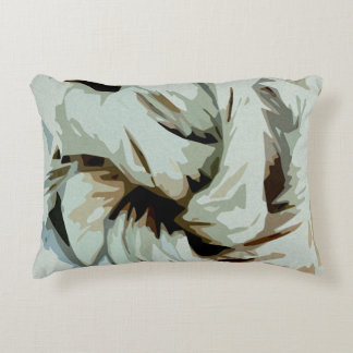 Earth Tone Earthy Abstract Art Decorative Pillow