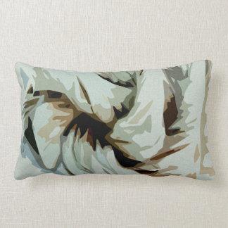 Earth Tone Earthy Abstract Art Lumbar Pillow
