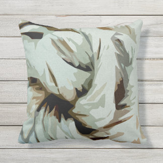 Earth Tone Earthy Abstract Art Throw Pillow