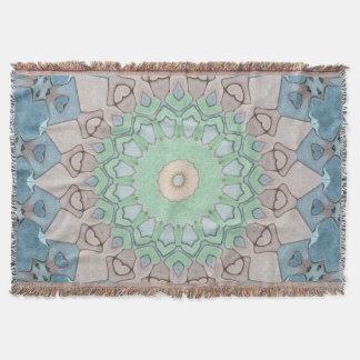 Earth Tone Pastels Mandala Throw Blanket