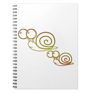 earth tone snails notebook
