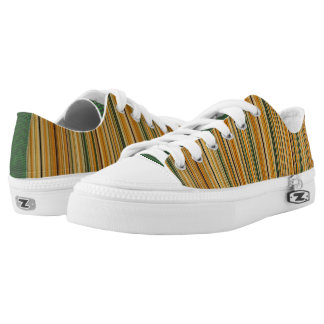 Earth Tone Stripes Low-Top Sneakers